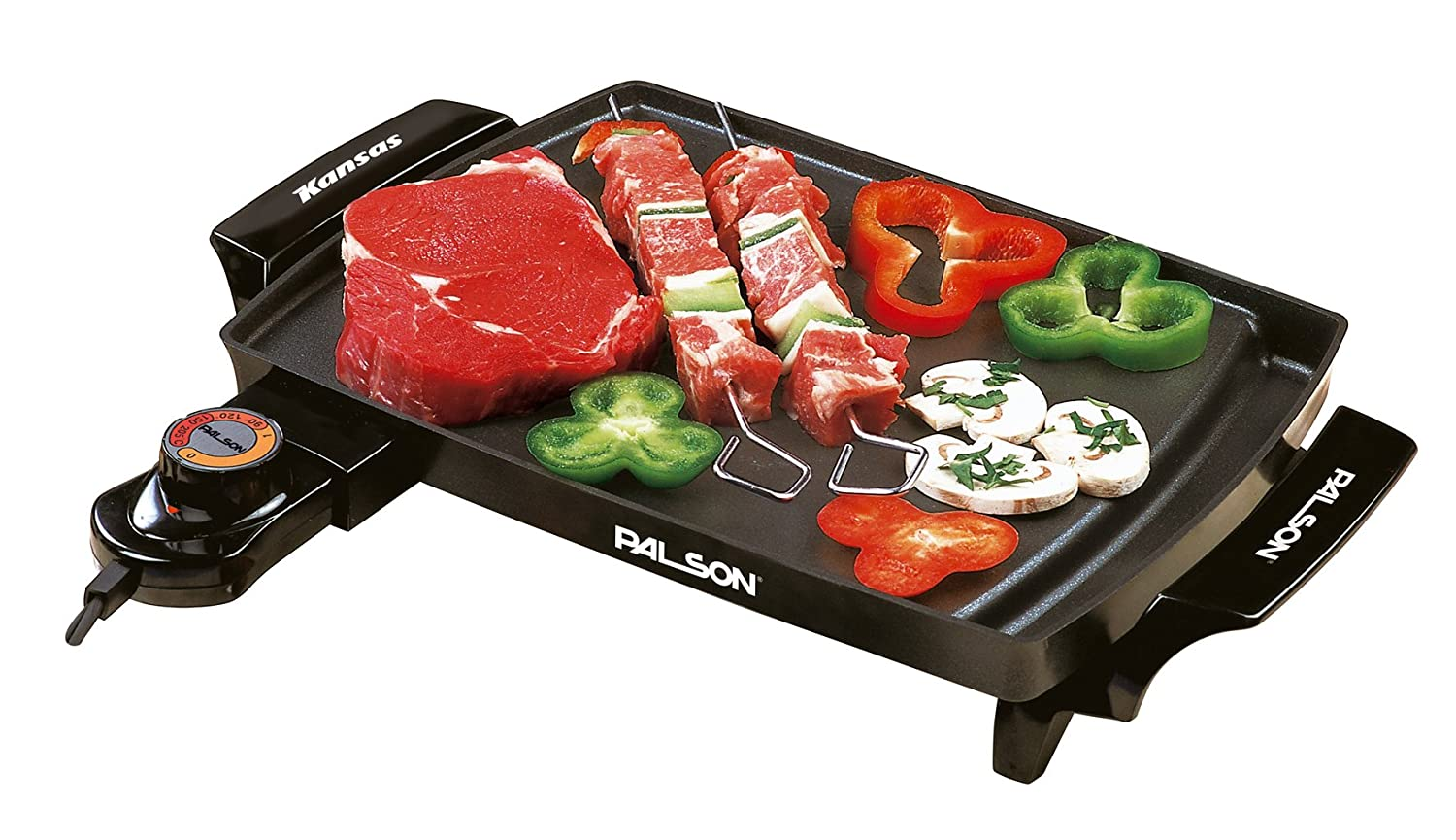 Palson Kansas Electric Teppanyaki Griddle Mini Grill Hot Plate BBQ Garden Camping - Free 2 Year Warranty 30457 Cookware Griddles Kitchen product