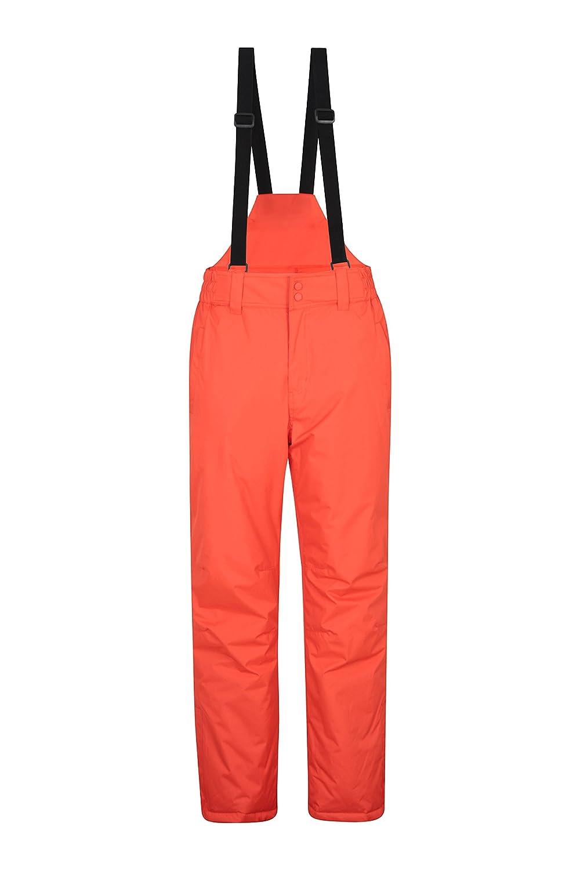 Mountain Warehouse Dusk pantaloni da sci Uomo - due tasche, girovita elasticizzato - ideale indumento da sci Grigio scuro M 021916020004