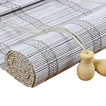White Roll Up Blinds.Amazon Com Roller Blinds Bamboo Roll Up Blinds Roller