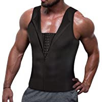 8c9a0502ab TAILONG Men Compression Shirt for Body Slimming Tank Top Shaper Tight  Undershirt Tummy Control Girdle