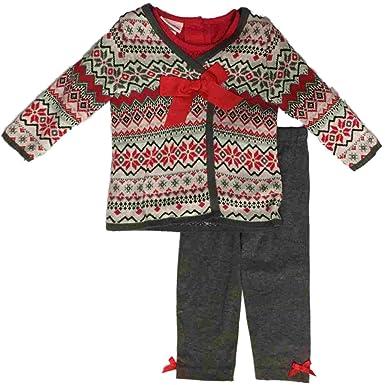 c0bb2cb7d1f83a Amazon.com  Infant Girls Christmas Tee Shirt   Cross Stitch Sweater ...