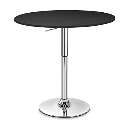 Excellent Round Adjustable Height Table Hydraulic Suspension Table Theyellowbook Wood Chair Design Ideas Theyellowbookinfo