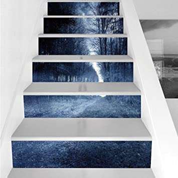 Home Decor Home & Garden 6pcs Self Adhesive Wall Sticker Set 3d Landscape Stair Stickers Home Decor