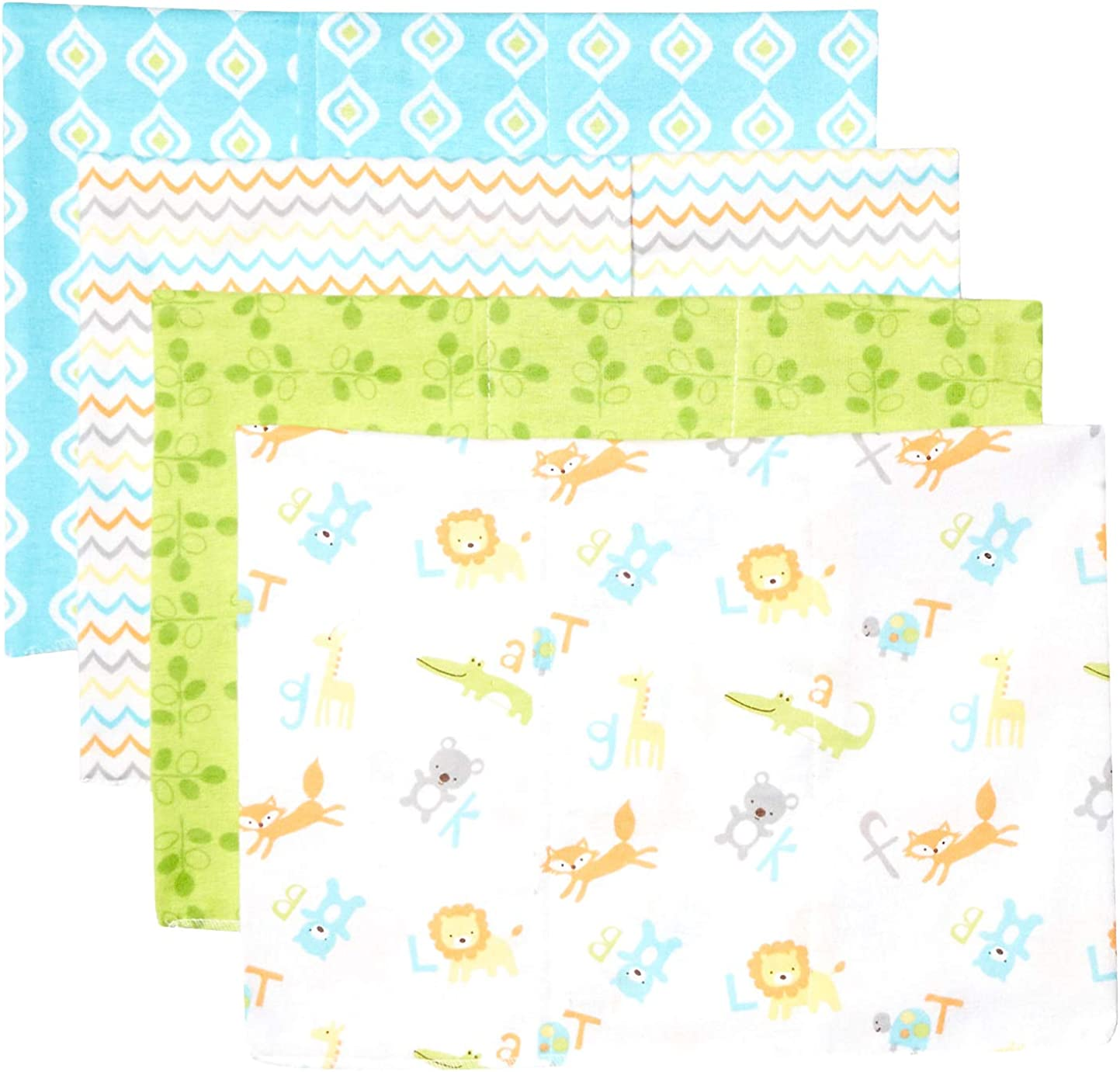 """Burp Cloths Unisex 3 Pack of Burp Cloths Large 20/"""" by 10/"""" Baby Burp Rags Under The Sea Rabbit and Roo Baby Burp Cloths for Boys and Girls Super Soft 100/% Cotton Cloth Ideal Baby Gift"""