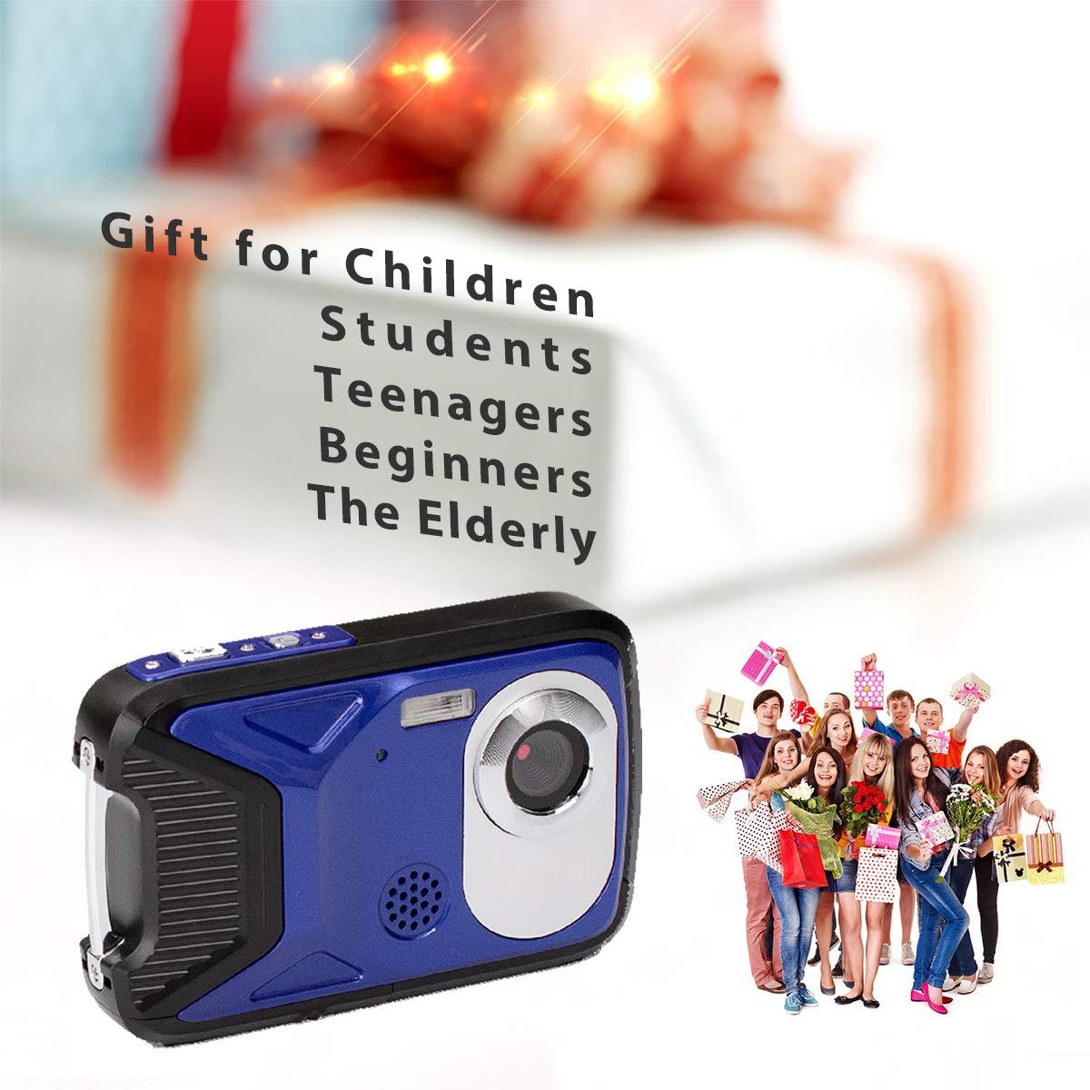 "GDC8026 Waterproof Digital Camera// 8x Digital Zoom// 16 MP// 1080P FHD// 2.8/"" TFT LCD Screen//Underwater Camera for Children//Teenagers//Students//Beginners//The Elderly"