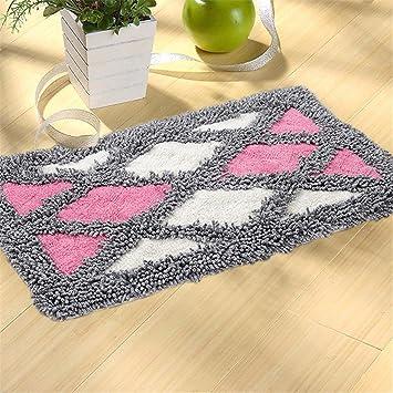 QIANMO Alfombrillas Alfombrillas Carpet colchones colchones Alfombras alfombras Alfombras alfombras Cocina Cojines Cojines Grandes Diamond-Shaped Rosa ...