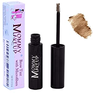 Mommy Makeup Brow Tint with Microfibers. Eyebrow Makeup - Long Lasting Eyebrow Gel. Clump-Free, Paraben-free, Talc-free, Made in USA. PETA Certified No Animal Testing - Blonde