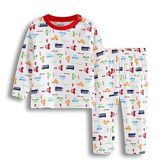 Hooyi Baby Boy Car Truck Cotton Pijamas Set (3-6month)
