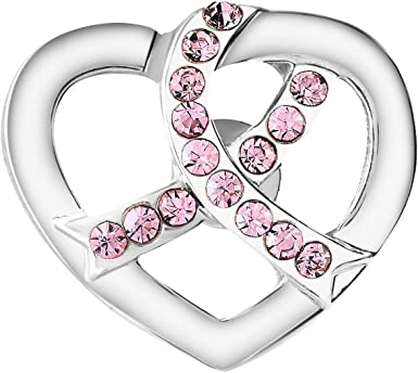 Fundraising For A Cause Breast Cancer Pink Ribbon Crystal Tac Pin