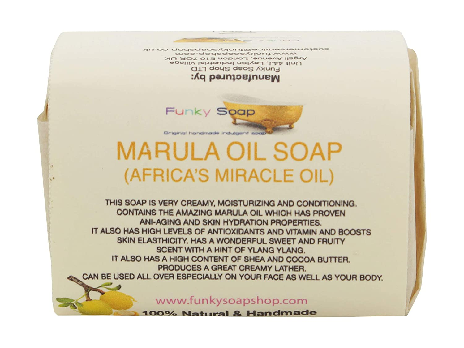 1 piece Marula (Africa's Miracle Oil) Soap 100% Natural Handmade 120g Funky Soap Marula Oil Soap