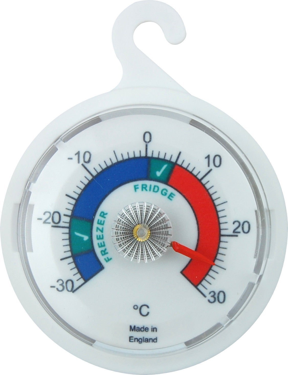 Freezer/Fridge Thermometer 65mm Dial, Colour Coded Zones. Great for Home, Coffee Shops, Restaurants, Bars, Cafes Brannan