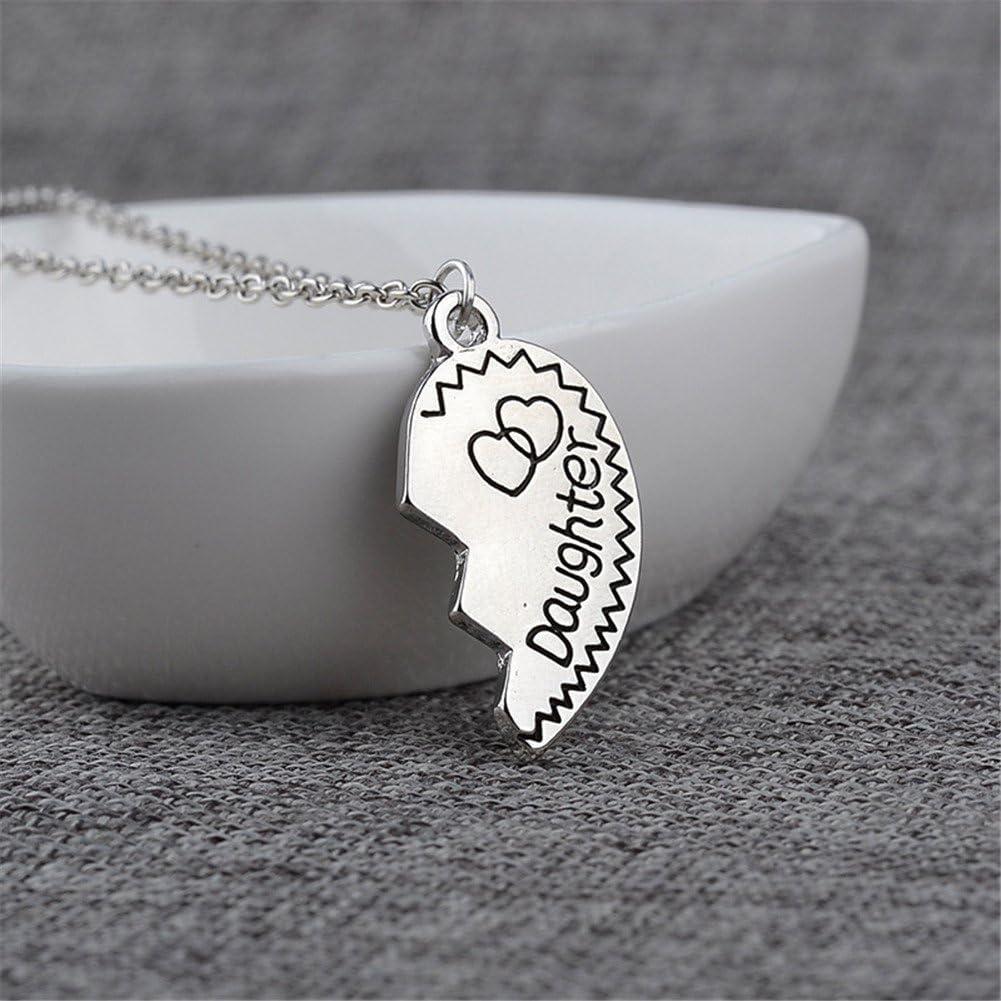 Gifts for Daughter Mom 2pcs Mother Daughter Split Broken Heart Pendant Necklace Set Family Mom Daughter Gifts from Mother Daughter Gold