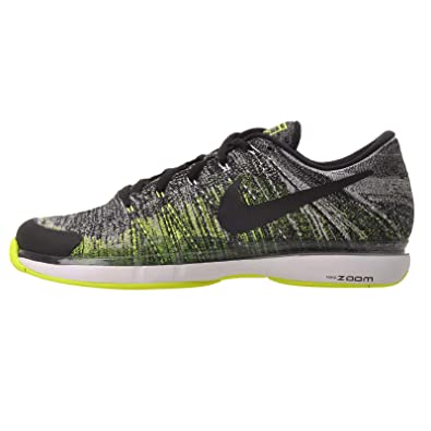 Nike Men\u0027s Zoom Vapor Flyknit, Black/Black-Volt-White, ...