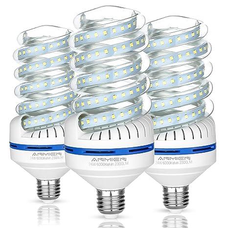 Cerco Lampade A Led.Bro Light E27 Lampadine Led 24 Watt Lampade Equivalenti A 220w Luce Bianca 6000k 2300 Lumens Lampadine Led Non Dimmerabile Angolo A Fascio 360