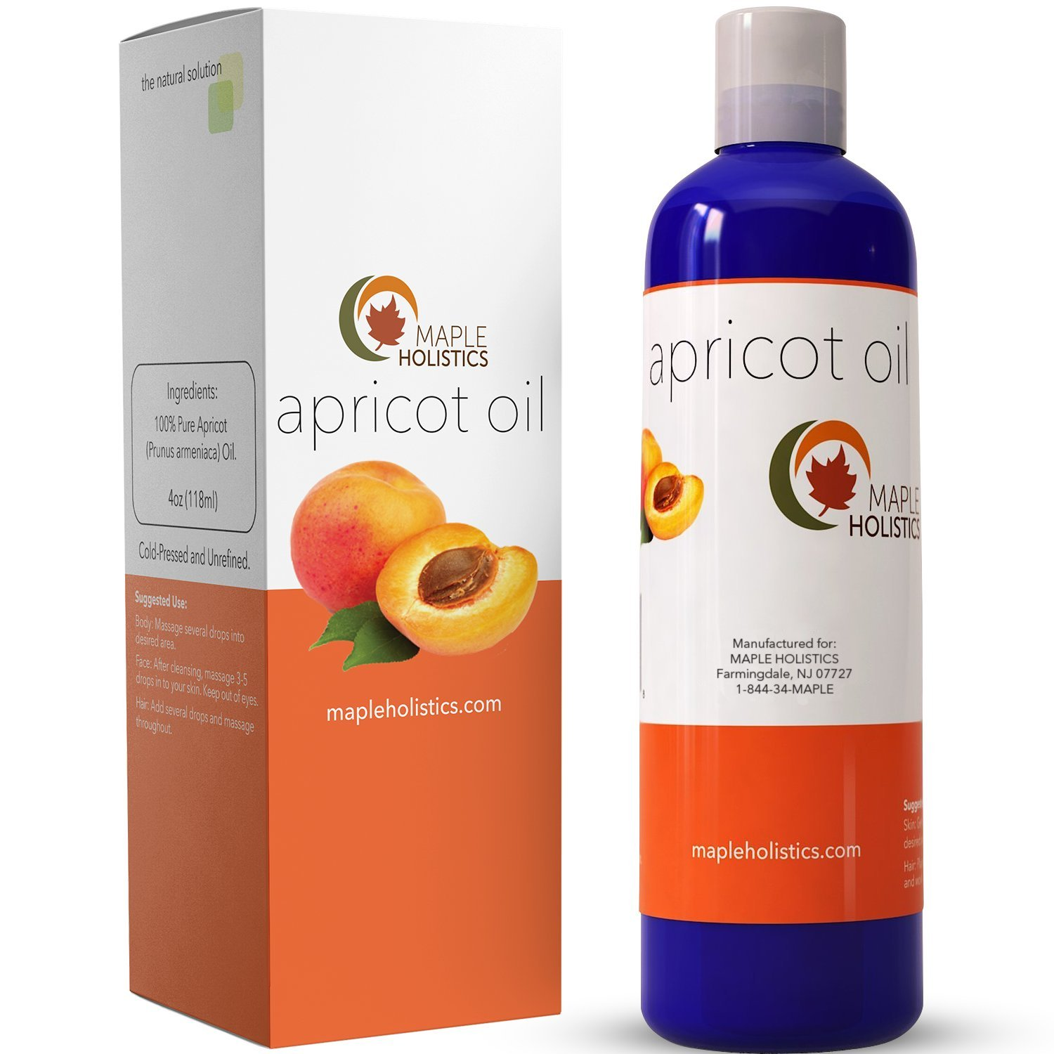 Apricot Kernel Seed Oil for Skin Hair Growth & Face - Pure Cold Pressed Carrier Oil for Massages & Aromatherapy - Beauty Oil Moisturizer with Anti-Aging Benefits - Natural Skin Care for Women & Men