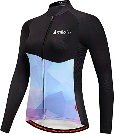 Colorful Women/'s Biking Shirts Long Sleeve Ladies Bike Cycling Jersey Tops S-5XL