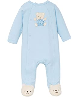 363c5d100 Amazon.com: Little Me Girls' Unisex Baby 2 Piece Footie and Cap Set ...