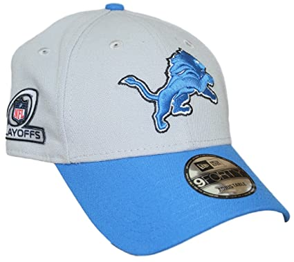 reputable site b23cc 954e5 Image Unavailable. Image not available for. Color  New Era Detroit Lions  9Forty NFL The League Playoff Patch Adjustable Hat