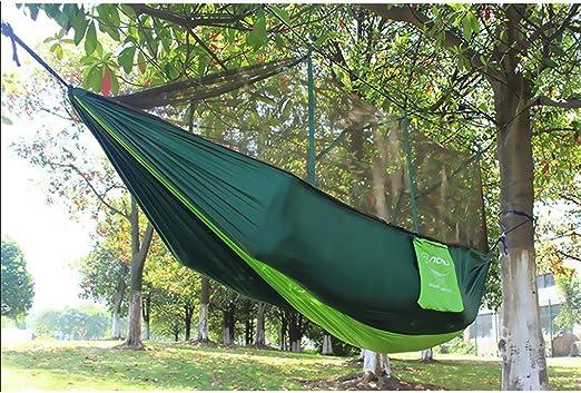 Desconocido Generic Hamaca De Jardín Cama Ligera para 2 Personas Camping Al Aire Libre con Mosquitera - Verde: Amazon.es: Jardín