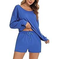 Doaraha Chandal Mujer Completo Tie Dye Impreso Camiseta Manga Larga y Pantalones Cortos Conjunto Deporte para Fitness…