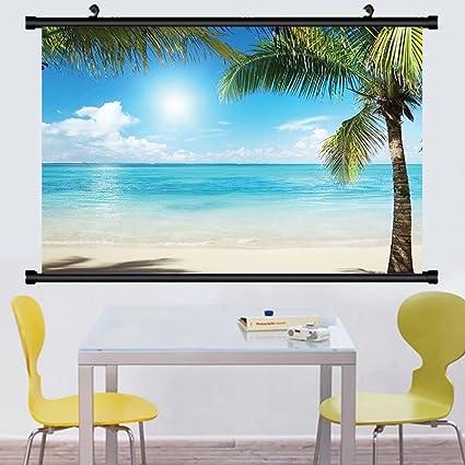 amazon com gzhihine wall scroll ocean tropical beach decor coconut