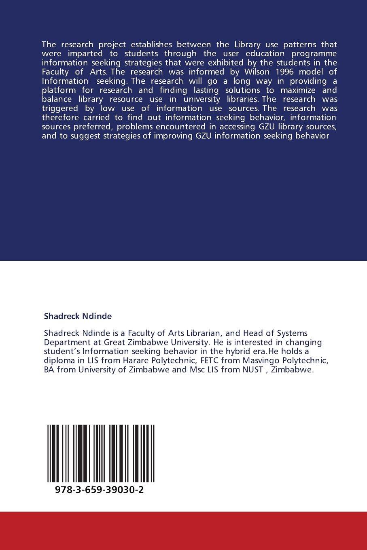Information seeking behaviour of Great Zimbabwe University