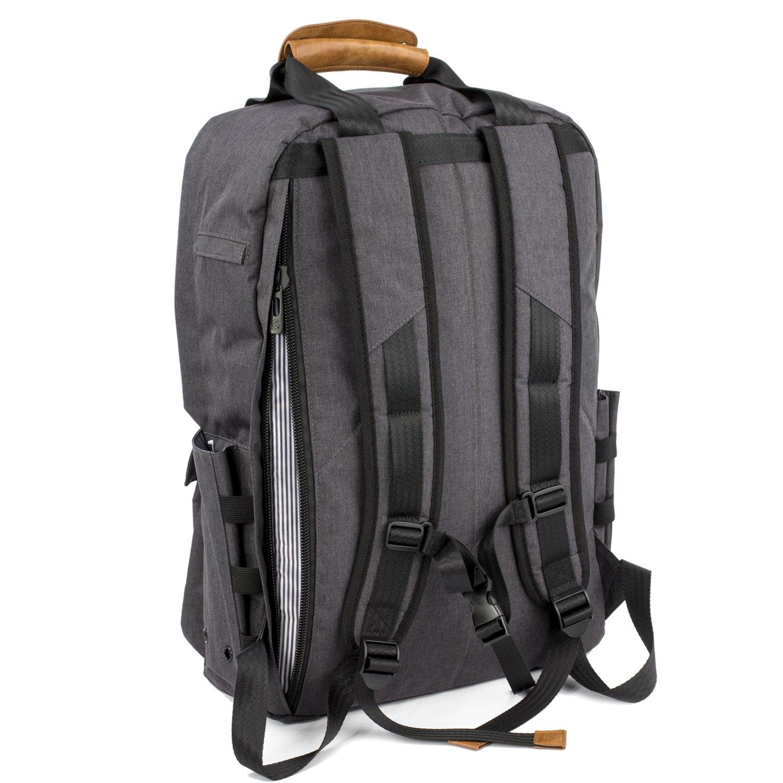 ALLCAMP Zaini per PC Portatili Zaino per PC Portatile Camping Zaino Daypack 15.6 Zaino per Laptop Fino Grigio