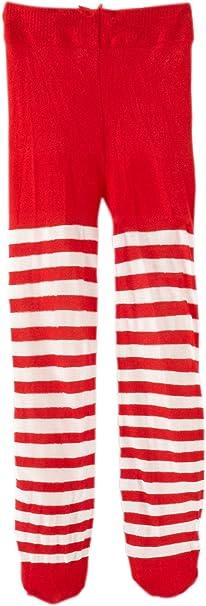 Jefferies Socks Baby Girls/' Stripe Tights Red//White 6-18 Months Free Shipping