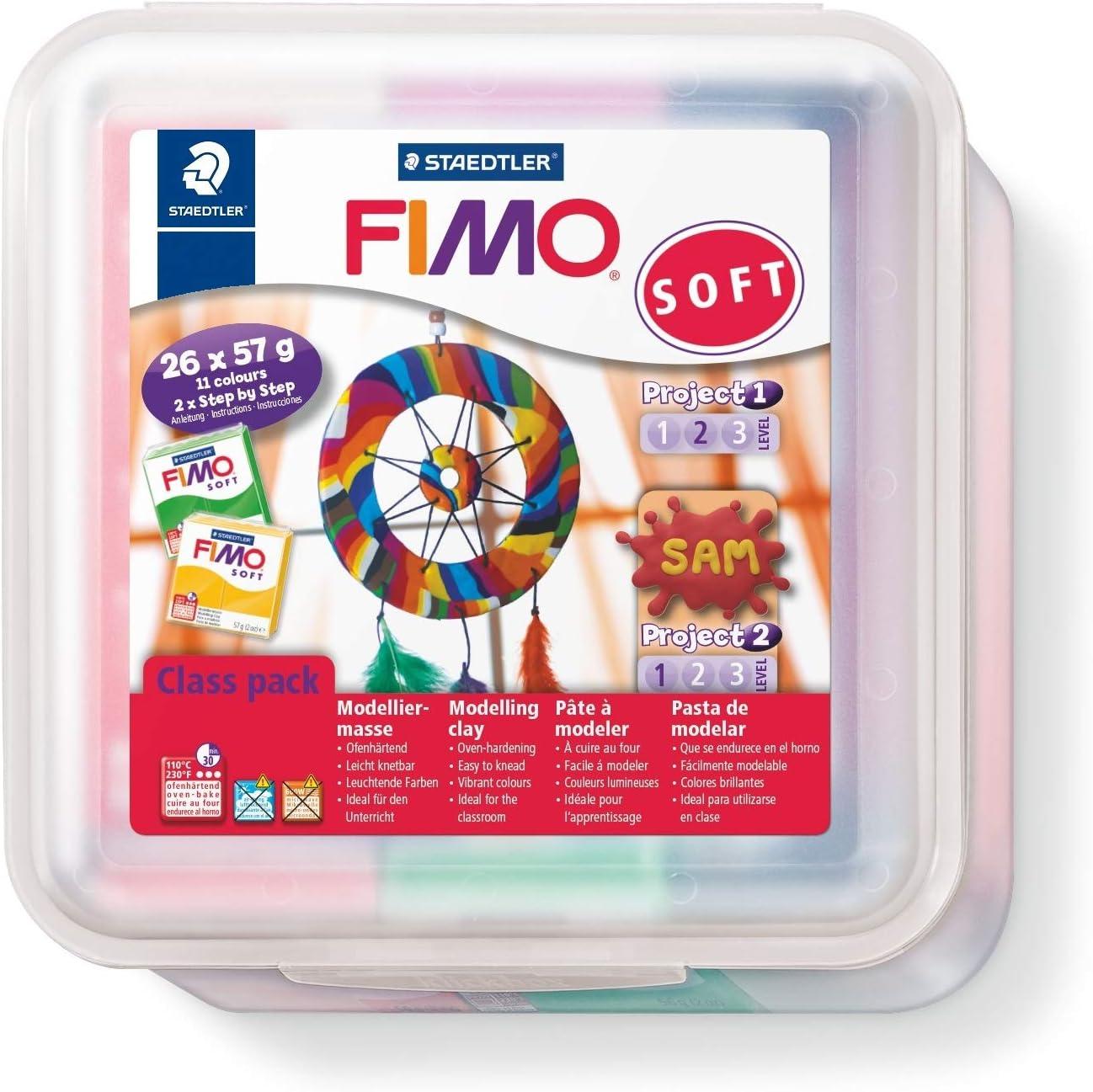 Staedtler Fimo Soft Pack De 26 Pains De Pate A Modeler Fimo A Cuire Au Four Pour Tout Type De Realisations 8023 50 Lx Amazon Fr Fournitures De Bureau
