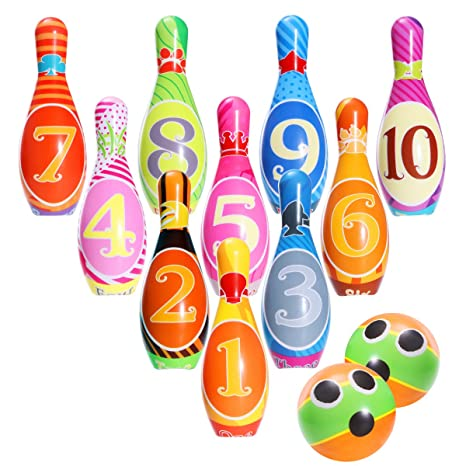 Amazon.com: iBaseToy Kids Bowling Set, Bowling Games for Indoor ...
