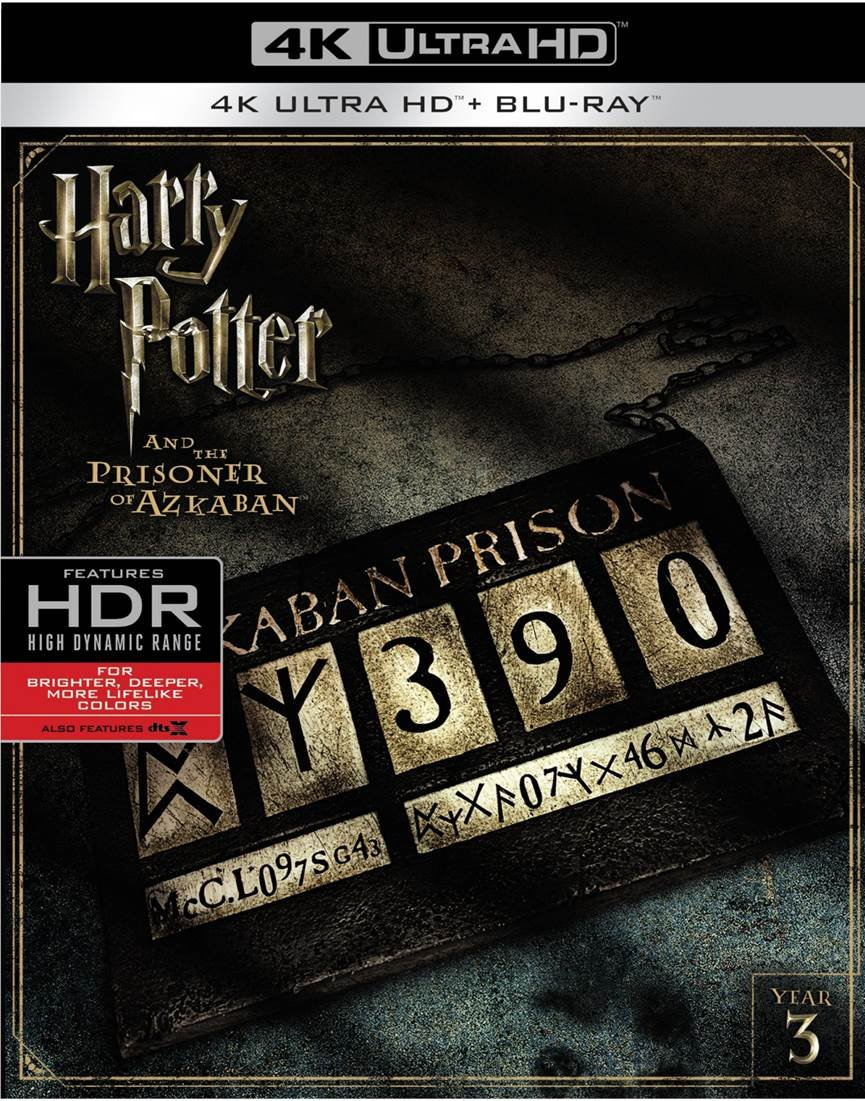 4K Blu-ray : Harry Potter And The Prisoner Of Azkaban (With Blu-Ray, 4K Mastering, Digitally Mastered in HD, 2 Pack, 2 Disc)
