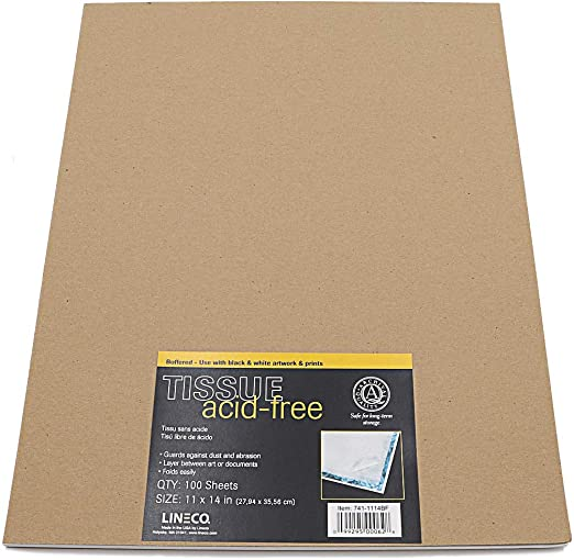 Lineco Buffered Tissue Paper 10X15 In 100//Pk