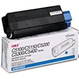 Okidata 42804503 Toner Cartridge, Laser, Type C6, 3000 Page Yield, Cyan