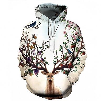 Impresos en 3D Animales Mujeres Hombres Sudaderas Plus Size suéter ...