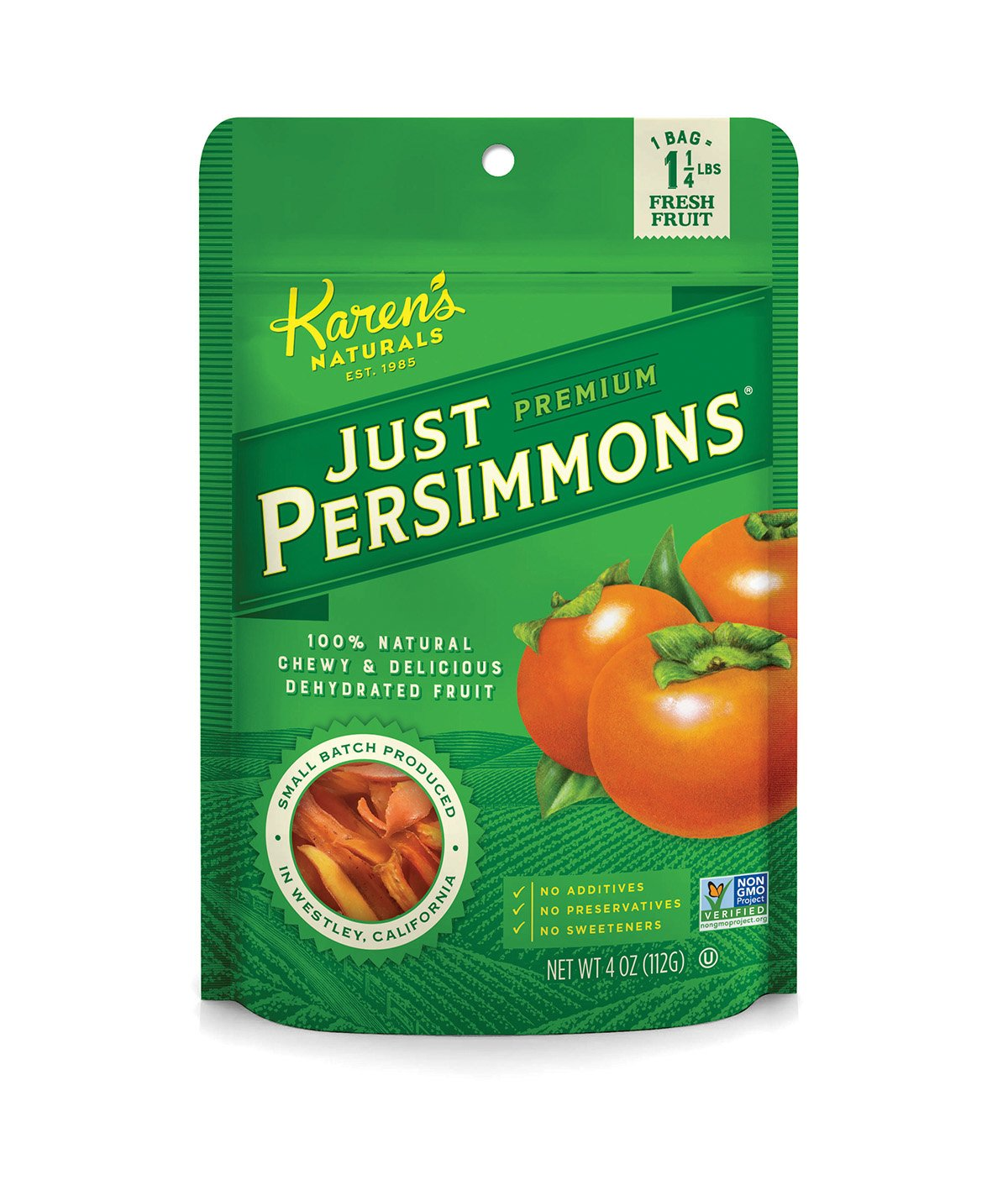 Karen's Naturals Just Tomatoes, Just Persimmons 4 Ounce Pouch (Packaging May Vary)
