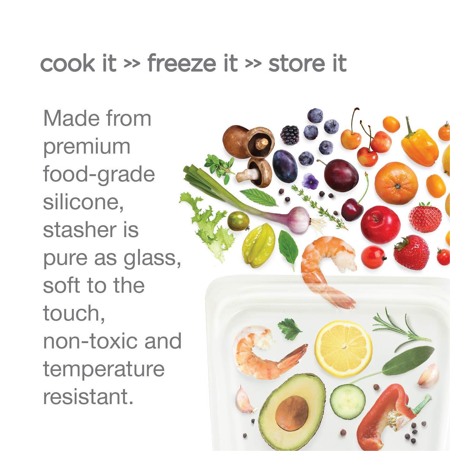 Amazon.com: Stasher - Bolsa de silicona reutilizable ...