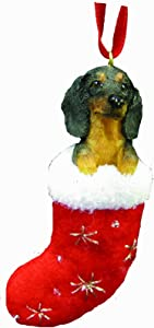 Dachshund Christmas Stocking Ornament with