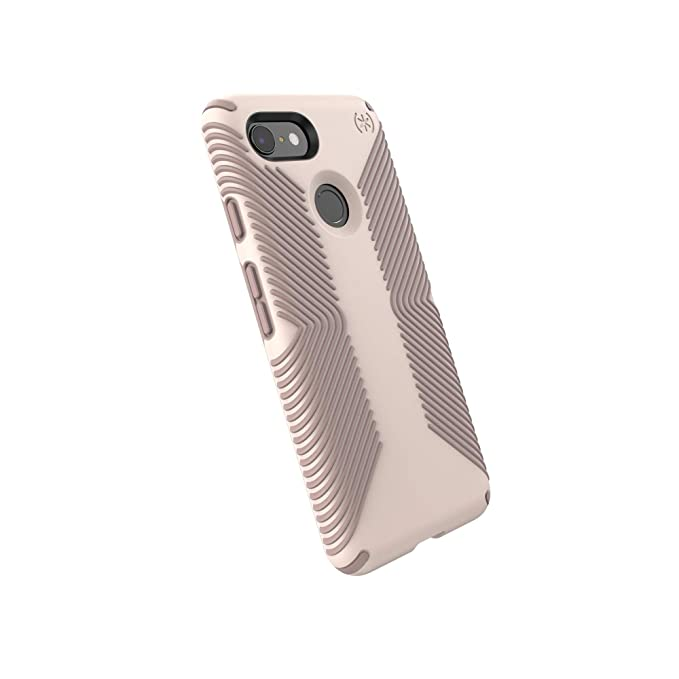 new concept 0f257 a0475 Speck Products Compatible Phone Case for Google Pixel 3, Presidio Grip  Case, Desert Rose Pink/Heartwood Brown