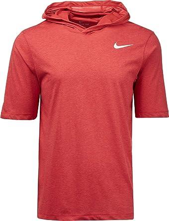 a644e8225 Amazon.com: Nike Men's Dry Training Short Sleeve Hoodie: Clothing