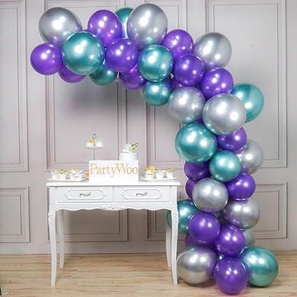 Amazon.com: PartyWoo – Globo de fiesta de sirena con 50 ...