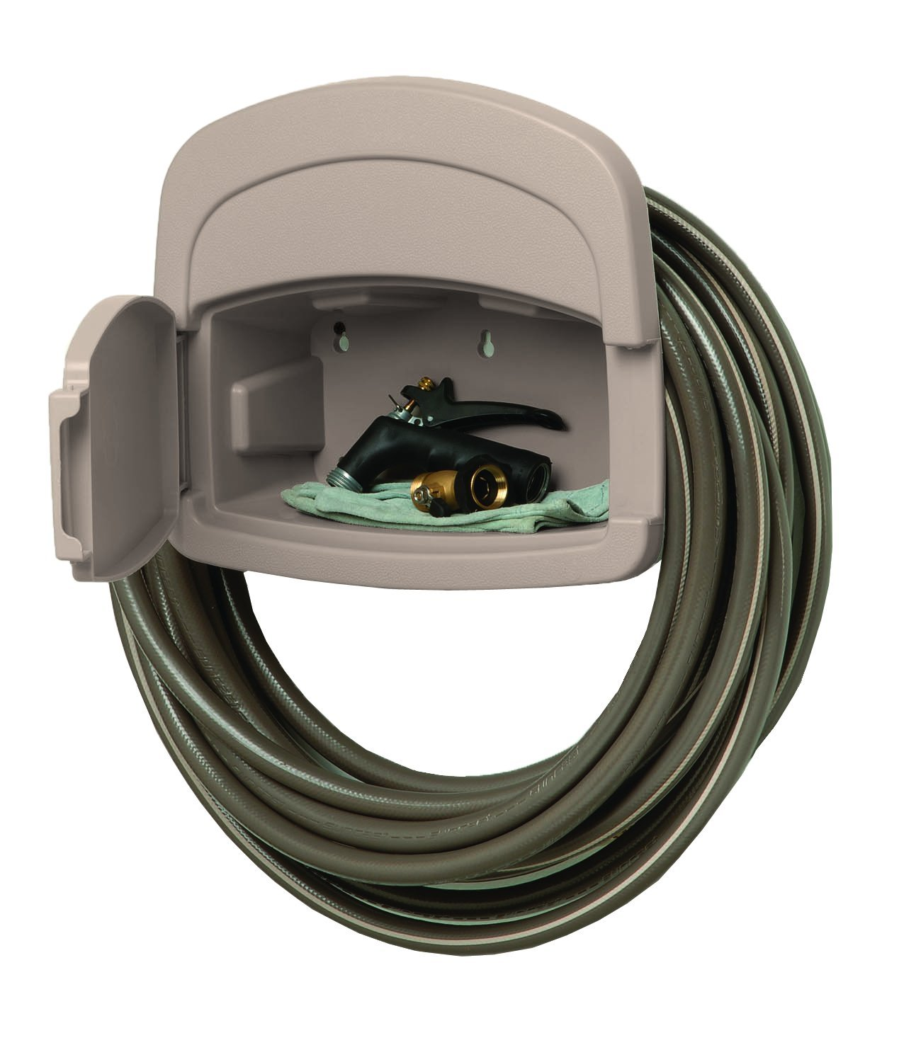 Merveilleux Amazon.com : Suncast DHH150 Deluxe Garden Hose Hangout With 150 Foot Hose  Capacity And Enclosed Storage Compartment, Taupe : Hose Hanger : Garden U0026  Outdoor