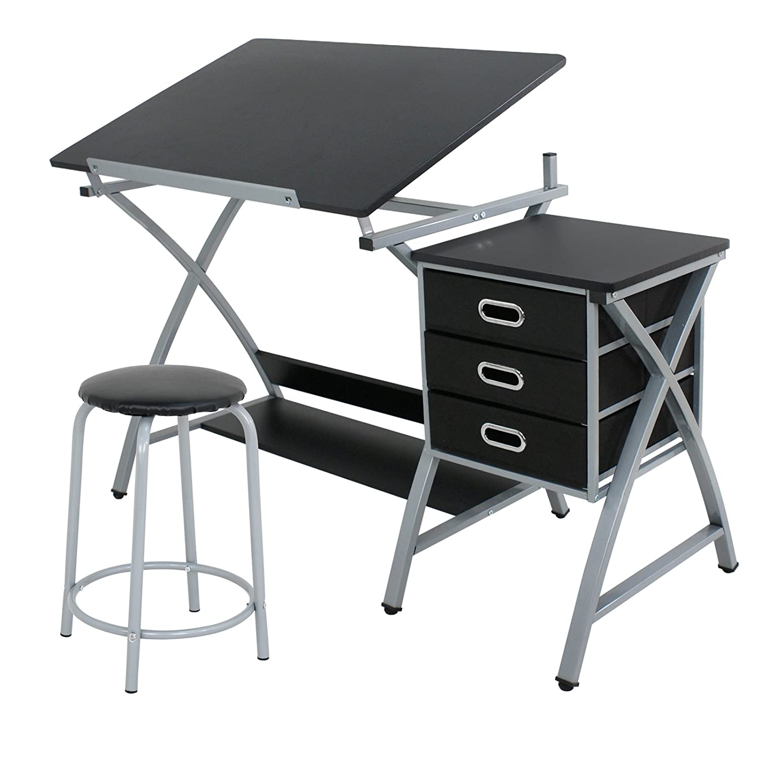 ZENY MDF Drafting Draft Table Art U0026 Craft Drawing Desk Art Hobby Folding Adjustable  Craft Table ...