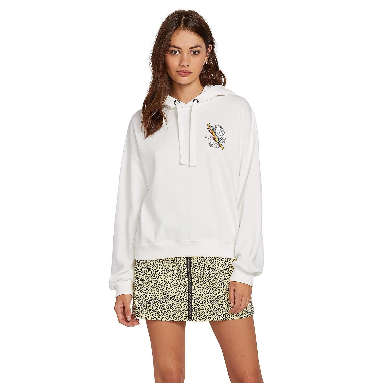 Volcom Womens Juniors Knew Wave Boxy Pullover Hooded Sweatshirt