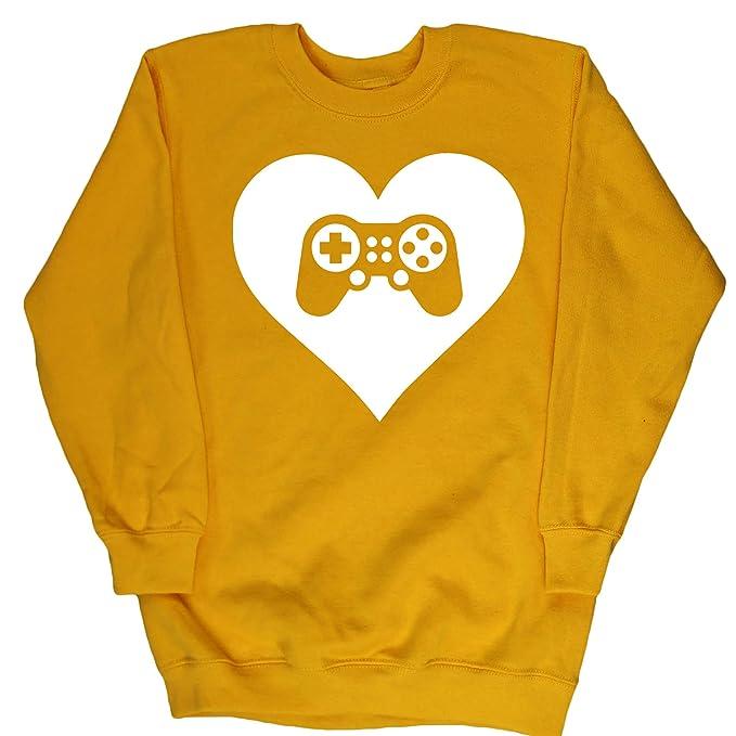HippoWarehouse Corazón Videojuegos jersey sudadera suéter derportiva unisex niños niñas: Amazon.es: Ropa y accesorios