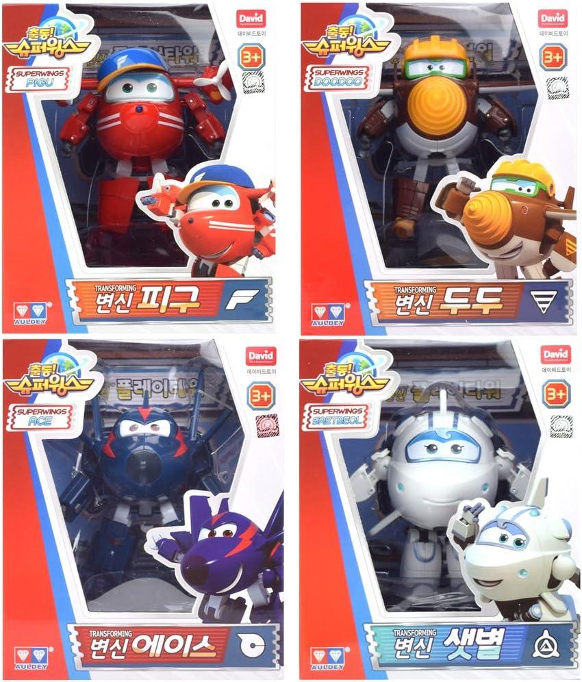 Super Wings Temporada 2 nuevo personaje transformación de Robot 4 Pk - Flip, Todd, Chace, Astar 5