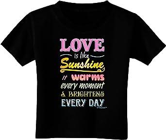 TooLoud Love Text Toddler T-Shirt
