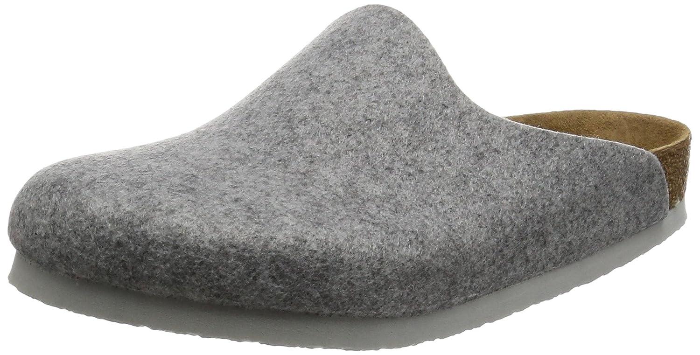 Birkenstock Amsterdam, Zapatillas de estar Por Casa Unisex Adulto 44 EU (Estrecho)|Gris (Light Grey)
