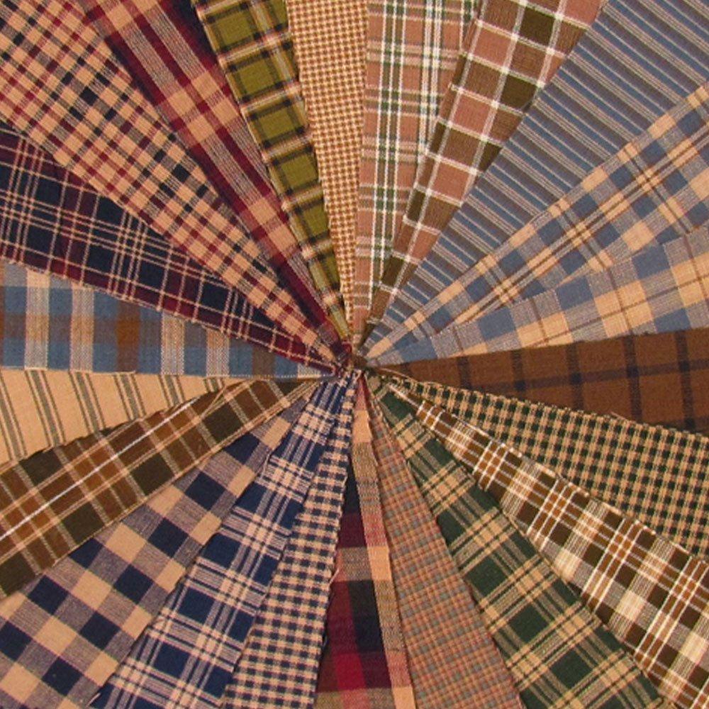 Cozy Ragged Homespun Quilt Kit, 200+ six inch Squares, 100% Plaid Cotton Fabric by JCS by JCS