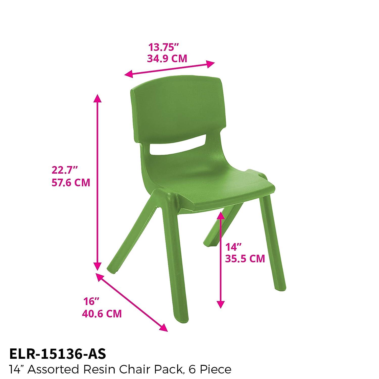 Ecr4kids School Stack Resin Chair Indooroutdoor Plastic Stacking