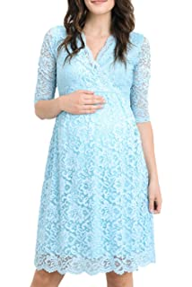 732b293f49b Hello MIZ Women s Maternity Floral Lace Knee Length Bodycon Dress at ...